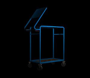3d metal cart