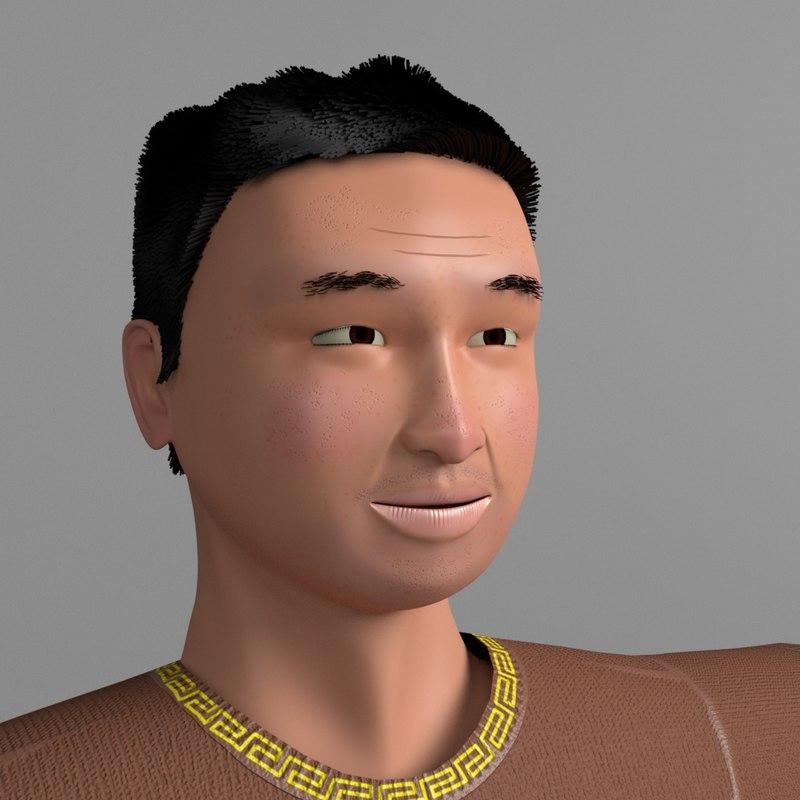 man human male 3d ma