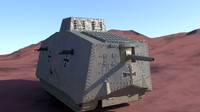 a7v sturmpanzerwagen german tank 3d ma
