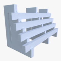 traffic barrier 3d obj