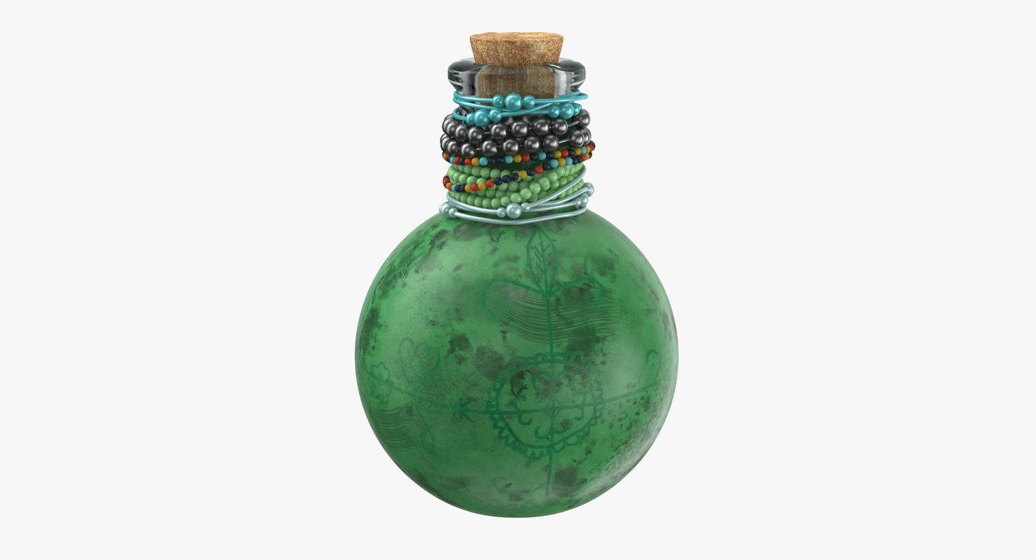 voodoo spirit bottle 02 3d max