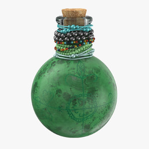 voodoo spirit bottle 02 3d max