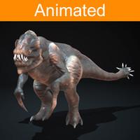 3d model character creature pangolin
