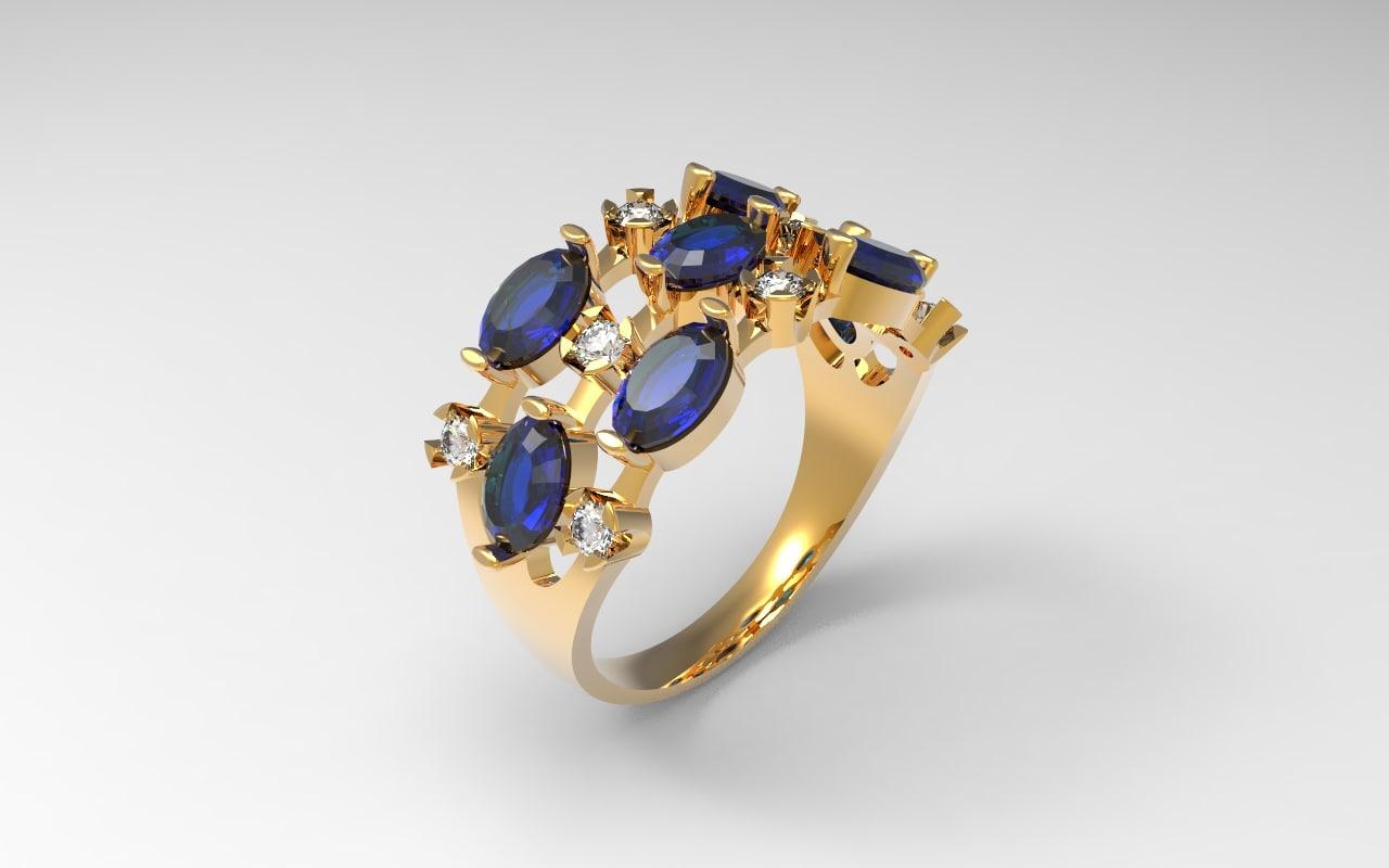 3d model of jewel ring