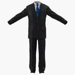 casual mens suit modeled 3ds