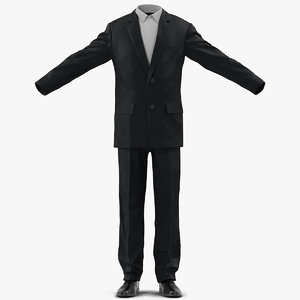 mens wedding suit modeled 3ds
