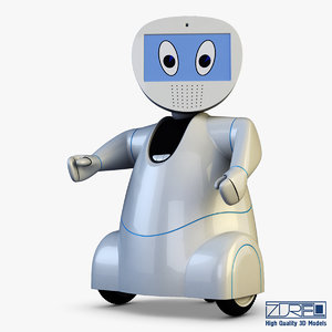 3d pakati robot assistant white model