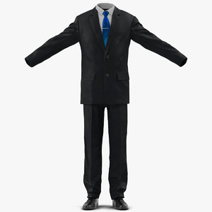 suit men classic modeled 3d model