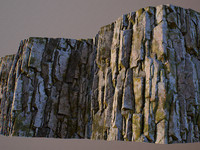 Mossy rock face tileable texture set
