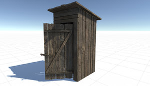 3d model outhouse