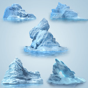 3d model of iceberg ice