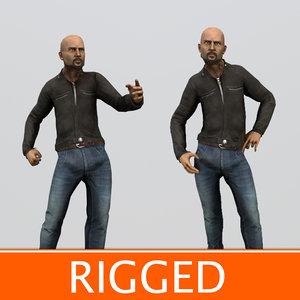 ma bold biker character rigged