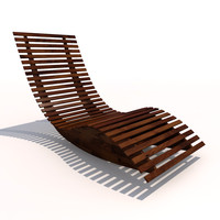 sun lounger - rocker 3d 3ds