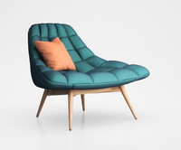 kolton accent armchair 3d obj