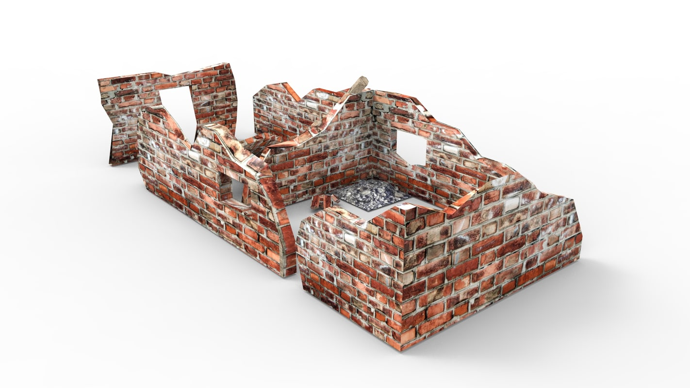ruined building 3d 3ds