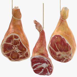 3d model hanging hams