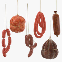 3d hanging sausages model