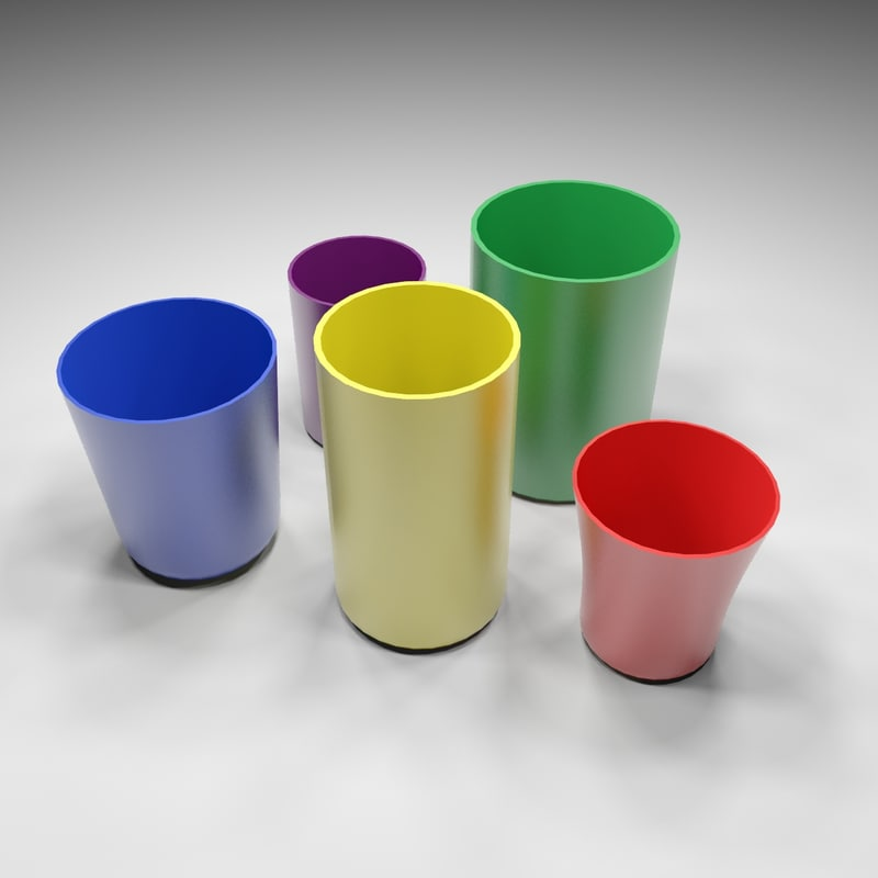 plastic cups 3d model