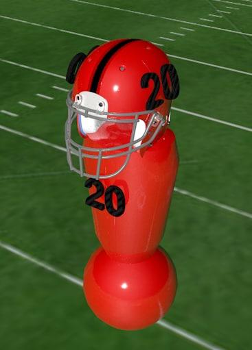 football dummy 3d model