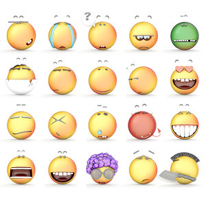 3d model smile icons