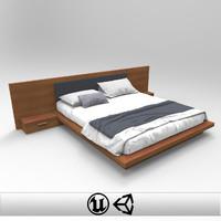 bed unreal unity 3d model