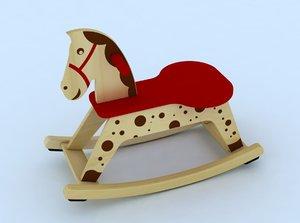 rocking horse 3d model