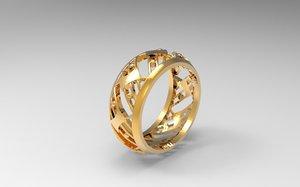 jewel ring 3d model
