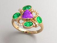 amethyst ring 3d model