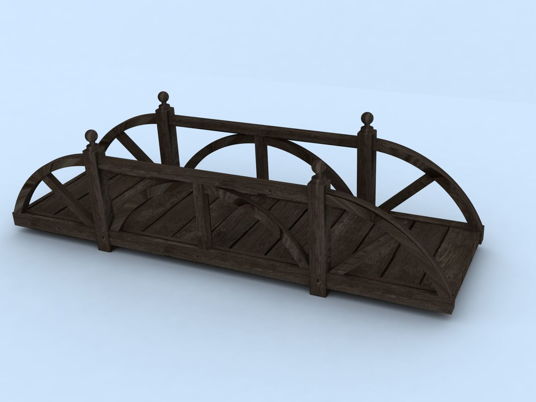 3d wooden bridge model