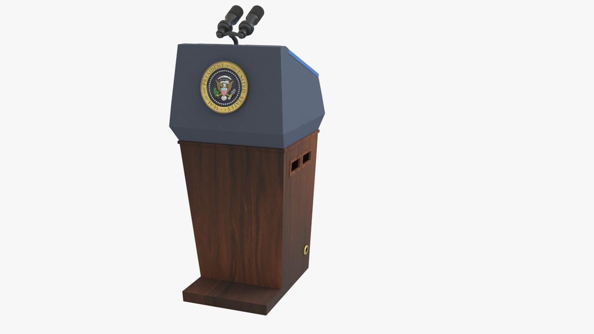 presidential podium seal 3d x