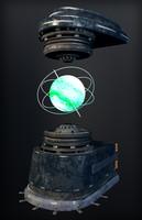 sci-fi hologram 3d model