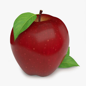 realistic red apple 3d model