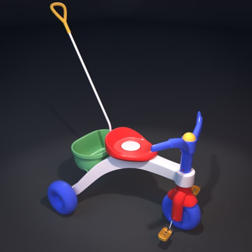 tricycle christmas 3d model