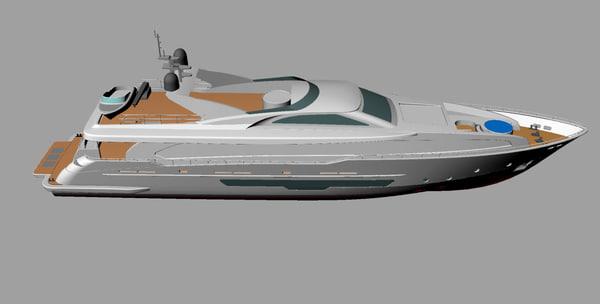 yacht 3d 3ds