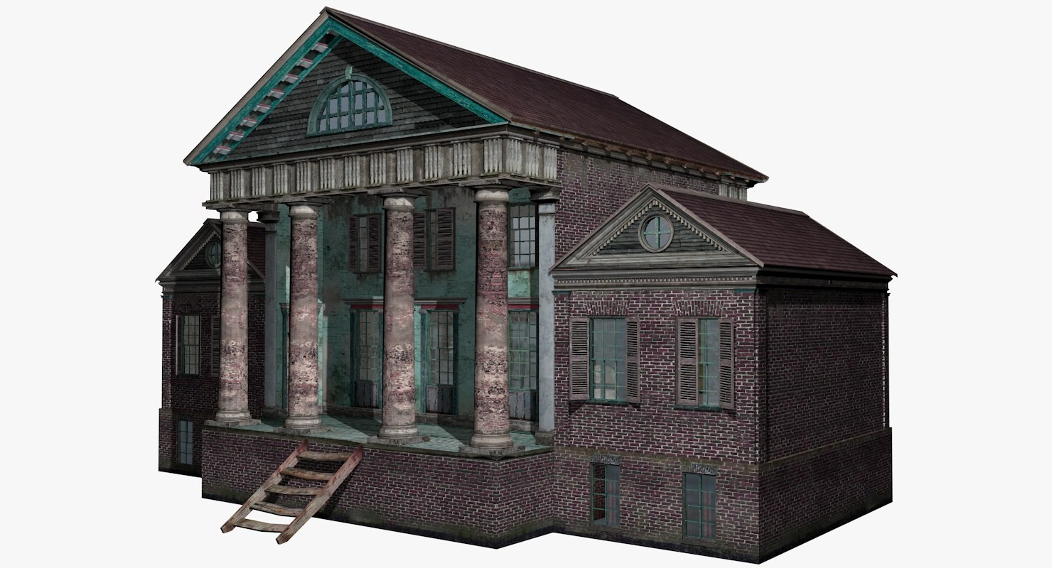3d model abandoned house interior