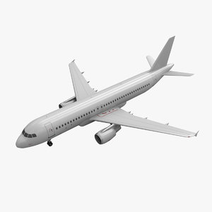 airbus a320 blank 3d 3ds