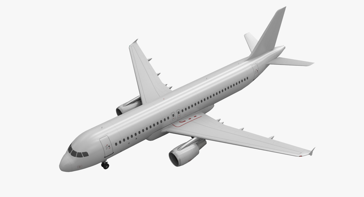 airbus a320 blank animation 3d model