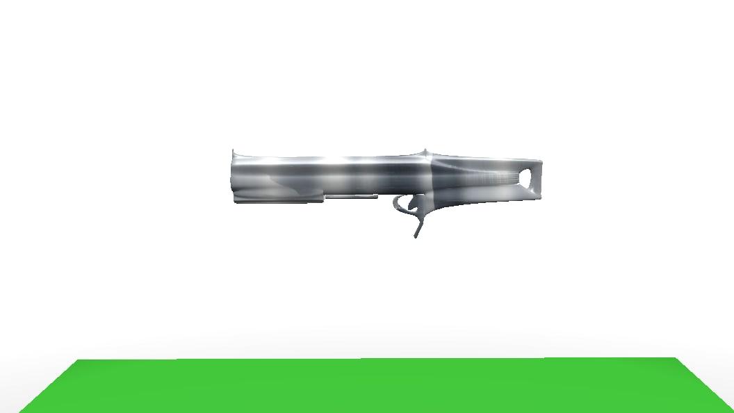 future gun 3d obj