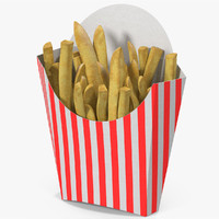 french fries 6 3d max
