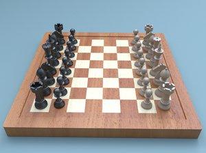 chess board 3d ma