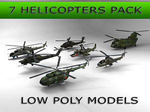 3d pack 7 helicopters