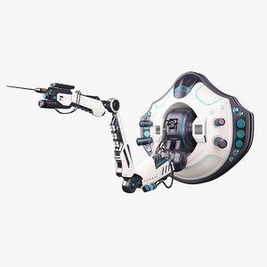 robotic arm 02 1 3d max