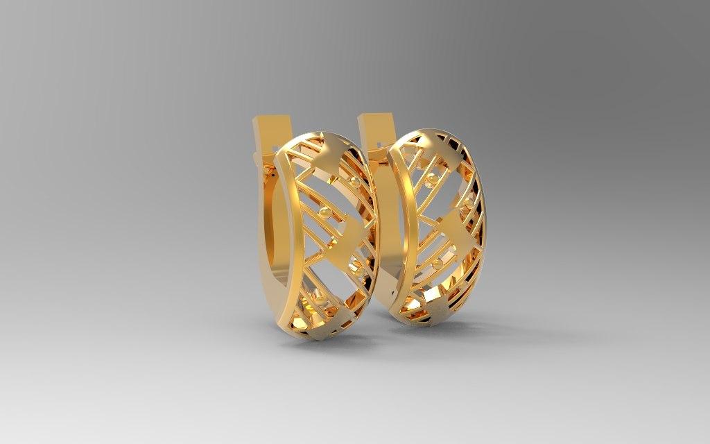 jewel earring 3d obj