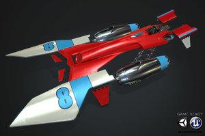 sci-fi racer pbr 3d model