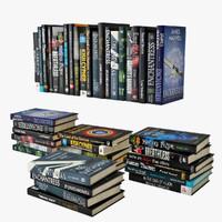 3d books dark cover model