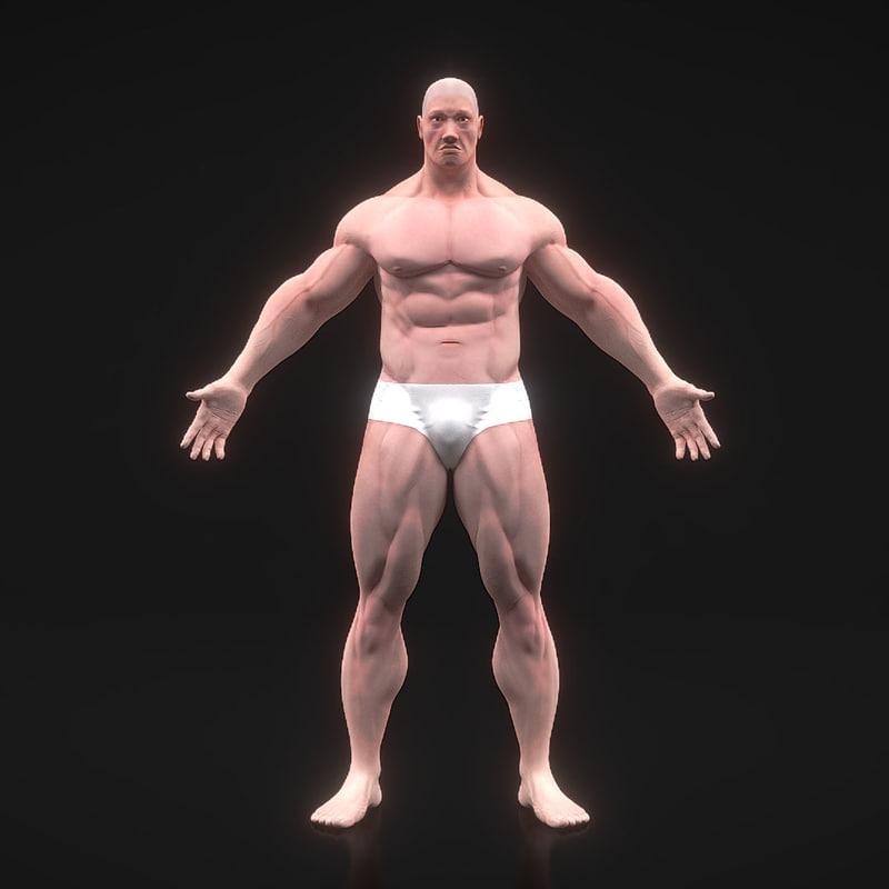 body bodybuilding 3d obj