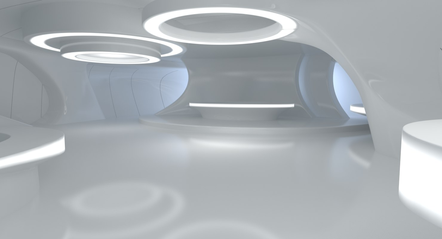 3d sci fi futuristic room design for Sci fi decor