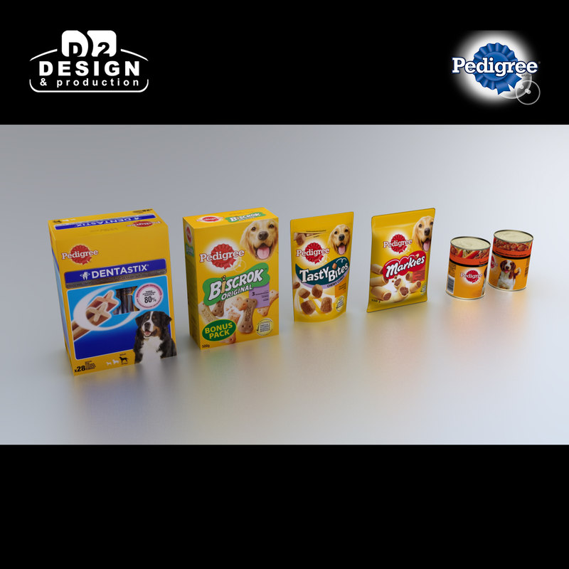 pedigree product 3d max
