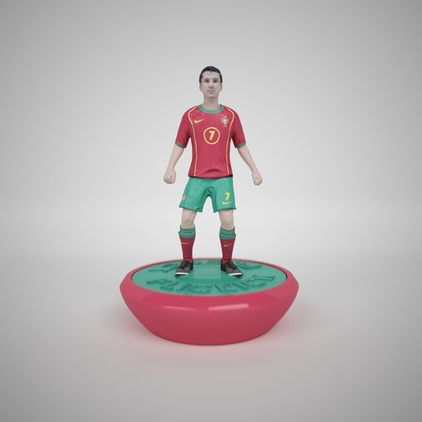 subbuteo table soccer player 3d model