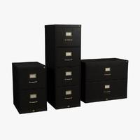 file cabinet 2 3d model
